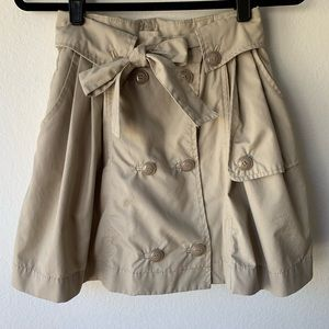 Belted Khaki H&M Mini Skirt